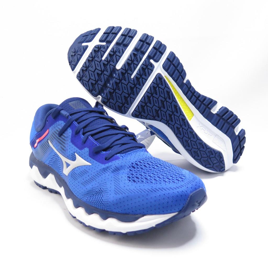 Mizuno WAVE HARIZON 4 男款 慢跑鞋 J1GC202655 藍【iSport愛運動】