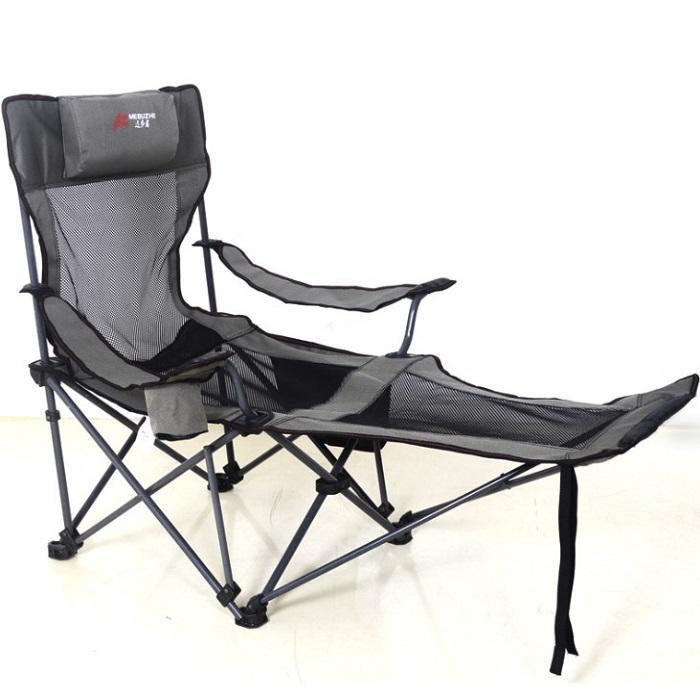 戶外折疊躺椅子SK207 牛津布600d露營躺椅 戶外折疊躺椅子便攜式靠背釣魚椅野外露營休閒沙灘凳子KIMM