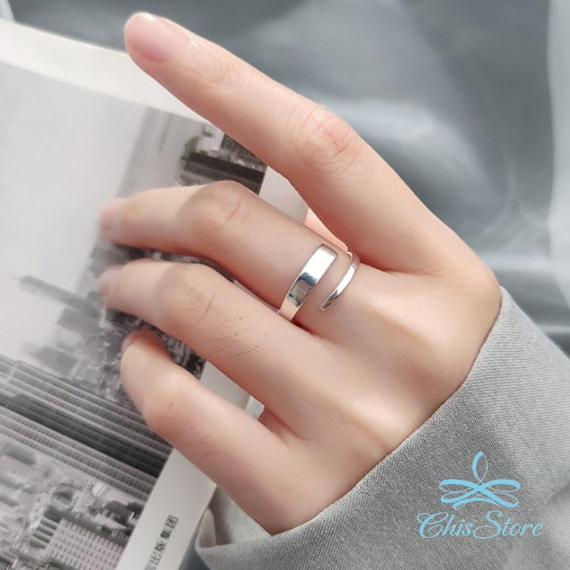 【由寬入窄線條戒指】925純銀戒指 Chis Store 線條戒指 麻花戒指 指環 抗過敏 韓國 簡約 可調節戒指