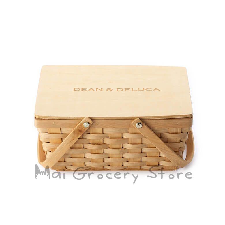 ::日本代購::DEAN & DELUCA 野餐籃 小竹籃 竹籃 水果籃 竹製野餐籃