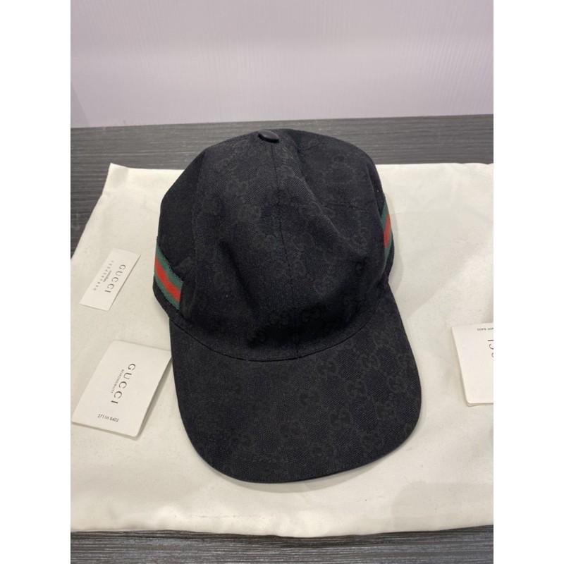 Gucci 黑花紋帽子