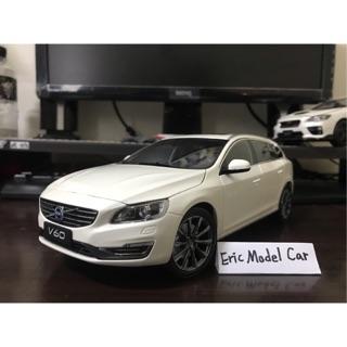 【E.M.C】1:18 1/ 18 原廠 Volvo V60 模型車 白色/ 藍色 台南市