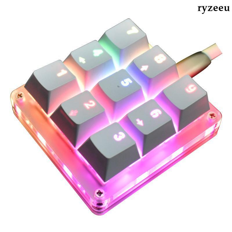 熱銷%9鍵機械鍵盤小鍵盤osu鍵盤音游鍵盤宏編程鍵盤迷你便攜自定義鍵盤