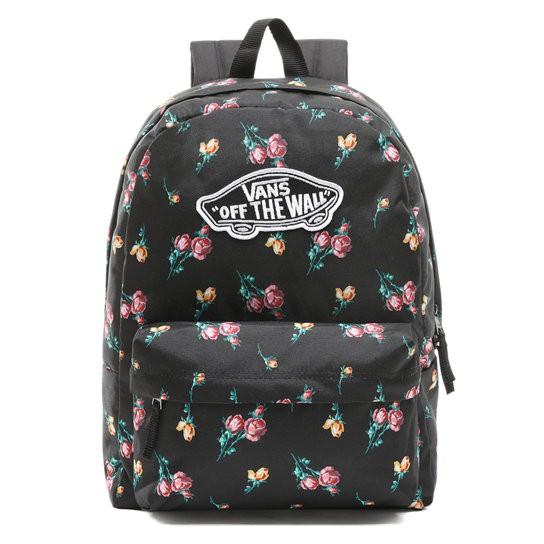 VANS - VN0A3UI6UV3 Satin Floral Realm Backpack 後背包 (黑色) 化學原宿