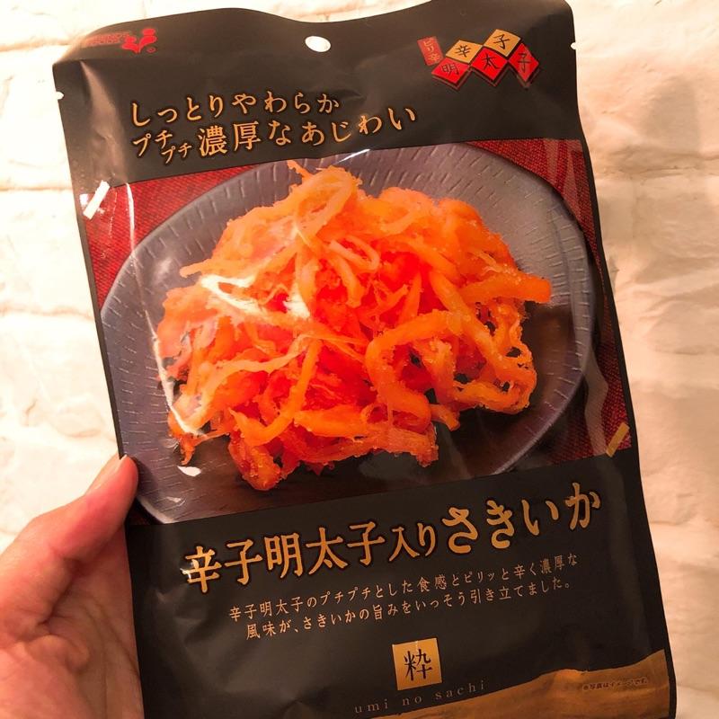日本井上食品新推出的辛子明太子魷魚絲~