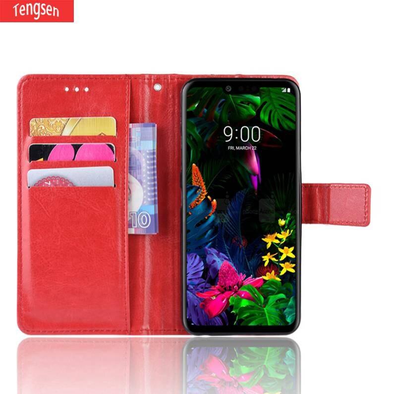 適用於LG G8 ThinQ手機翻蓋皮套錢包矽膠套