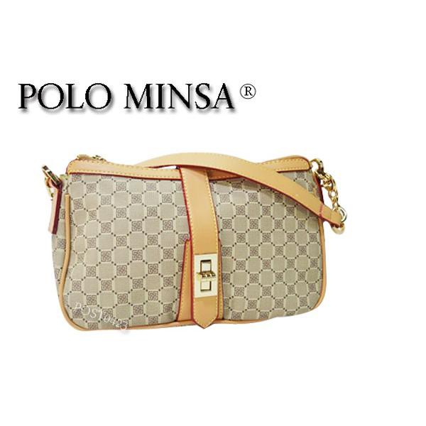 ₳便宜到哭₳保羅名莎 POLO MINSA 611-2066-12 歐式精緻簡約手提淑女包 肩背包 展露女性知性自我風格