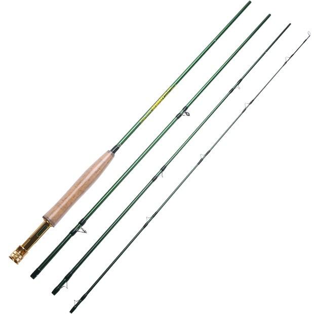 Sougayilang 嗖嘎一郎 兩款飛蠅竿飛釣魚竿 可選 綠色飛蠅竿 戶外旅行釣魚竿 釣魚 漁具