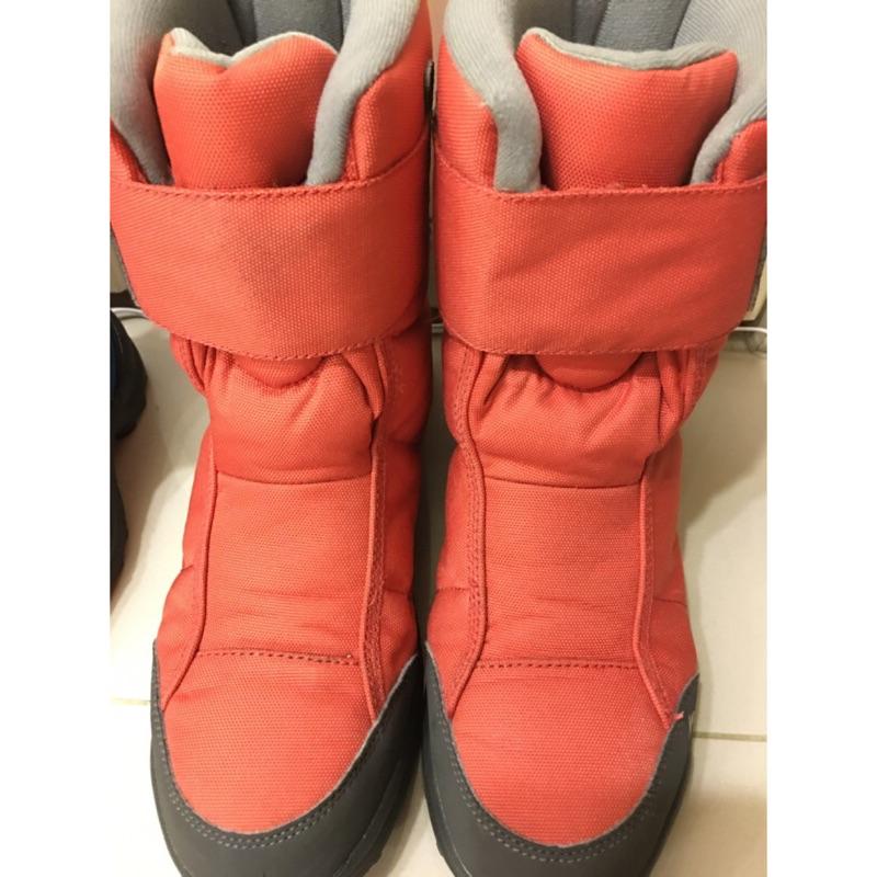 兒童- 10°C防水防滑登山雪鞋 (魔鬼氈設計) QUECHUA SH100 迪卡儂