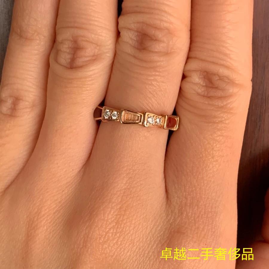 二手正品 BVLGARI(寶格麗) Serpenti Viper戒指鑲嵌動人的密鑲美鉆和熱烈的紅玉髓 現貨