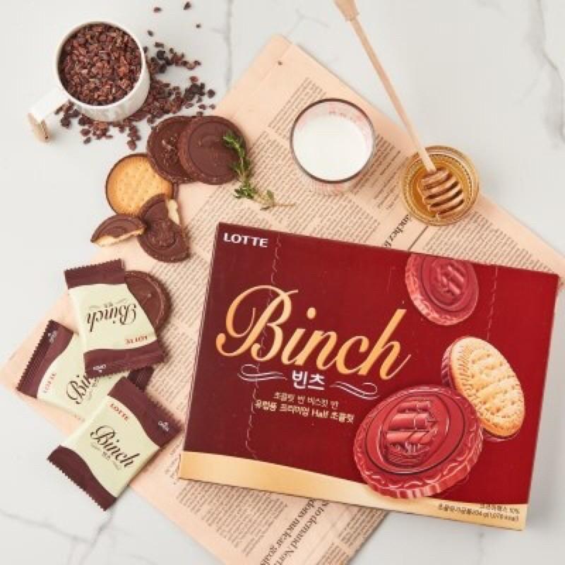 LOTTE樂天 BINCH巧克力餅乾24入