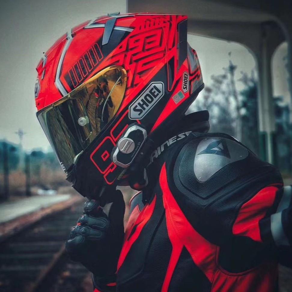 日本代購SHOEI X14加藤招財貓螞 紅螞蟻 蟻布拉德利摩托機車頭盔賽車跑盔全盔 安全帽