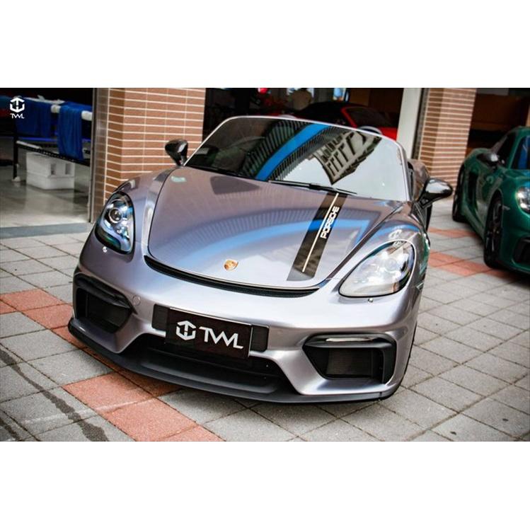 TWL台灣碳纖 Porsche 718 台灣製造 GT4前保桿 前保 GTS Boxster Cayman Spyder