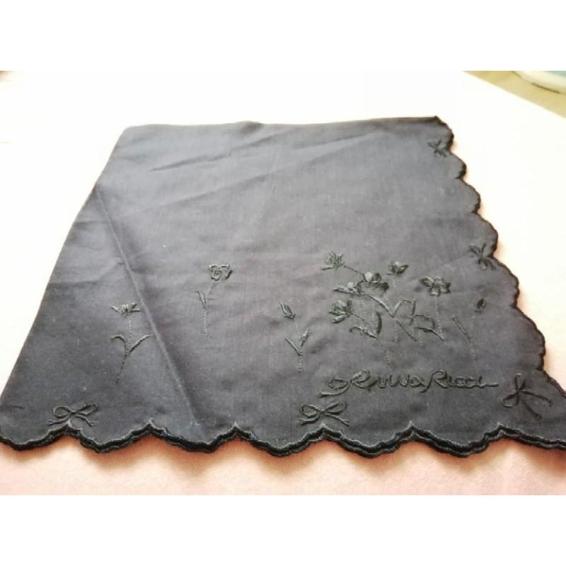 Nina ricci 四邊刺繡 手帕 絲巾