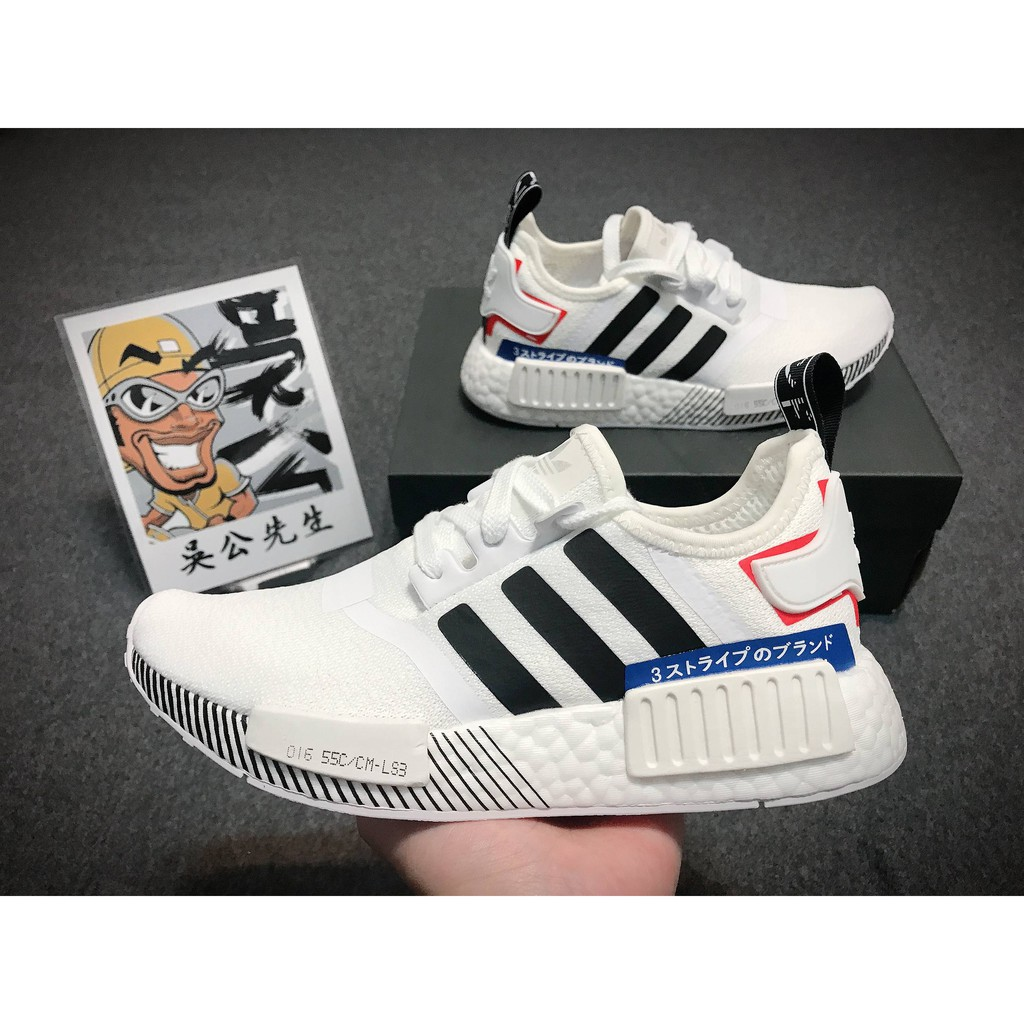 【吳公先生】Adidas NMD boost R1 Japan White 日標 日文 白色 黑色 情侶鞋 EF0753