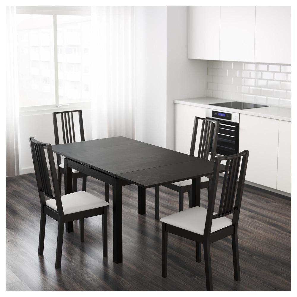 絕版品/北歐IKEA經典宜家BJURSTA延伸桌實木餐桌工作桌/梣木/黑棕色/90延長168/二手八成新/特$2800