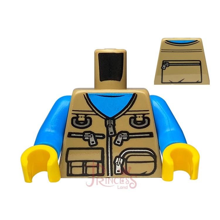 公主樂糕殿 LEGO 樂高 21318 樹屋 身體 軍裝背心 深沙色 973pb2912c01 A207