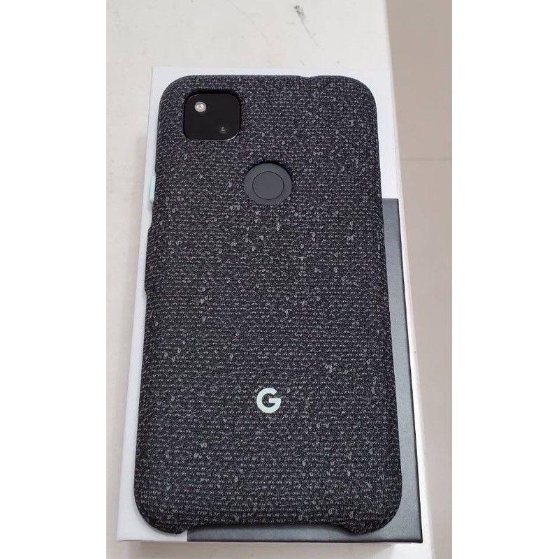 Pixel 4a 原廠布織保護殼 保護套 (黑)