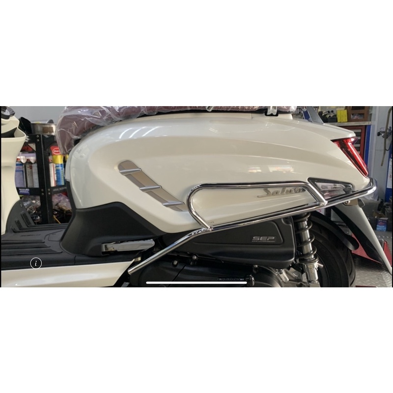 SALUTO125/台中西區總經銷(風鏡/後保桿/安裝範例)送丟車賠車險+SALUTO專屬安全帽