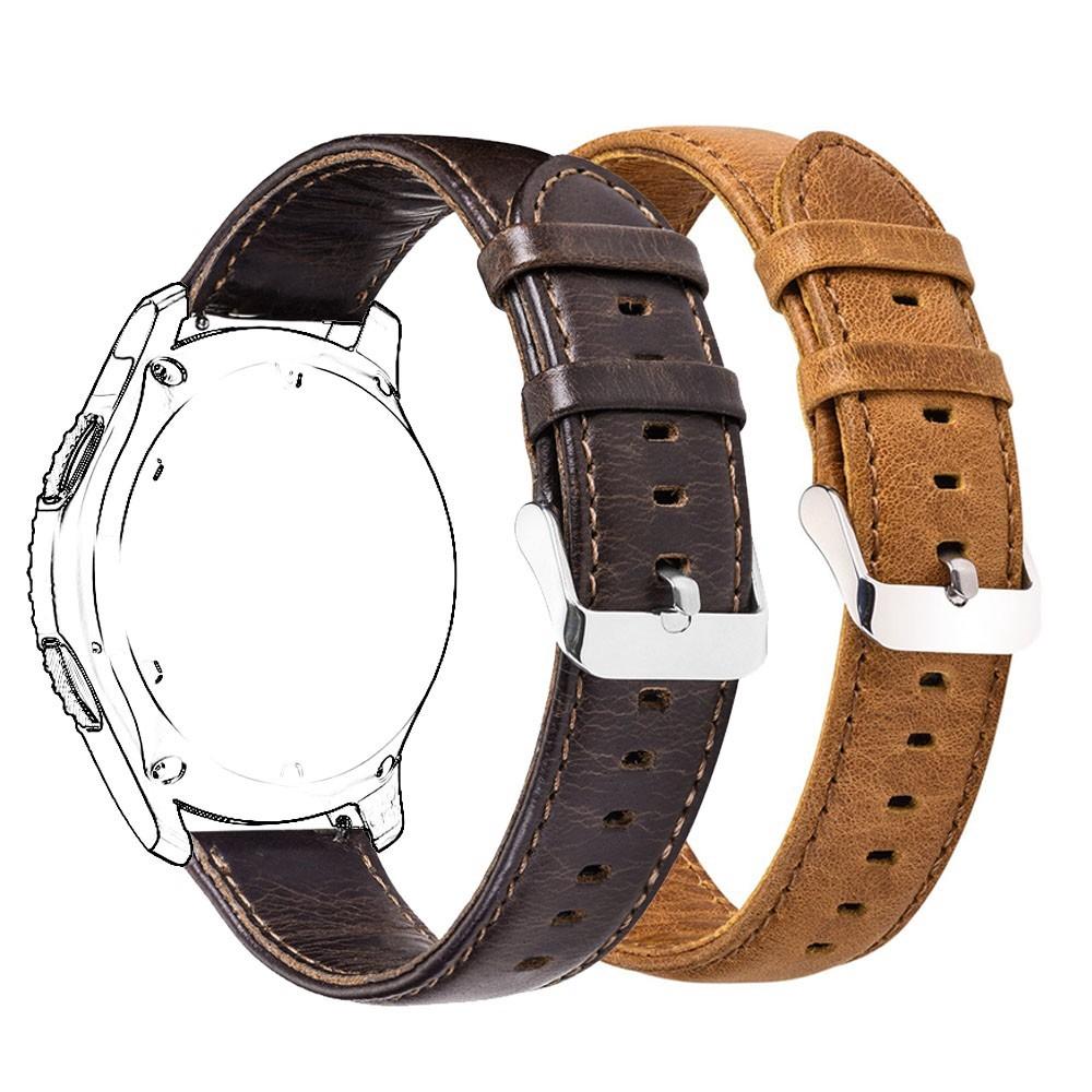適用於Garmin vivoactive 3/Music/645 Samsung Gear Sport 真皮腕帶 錶帶