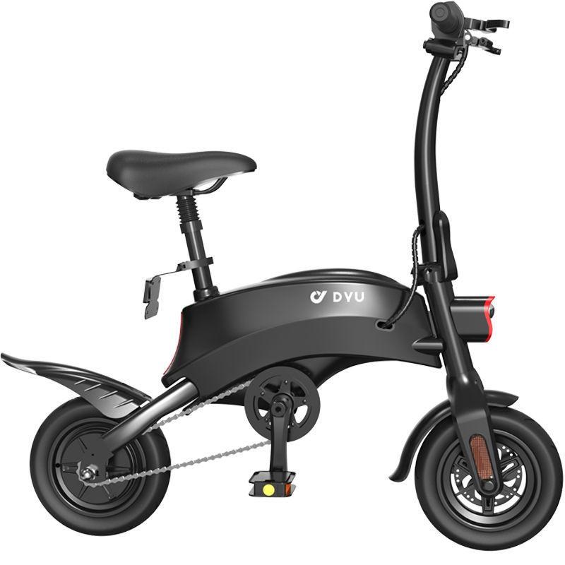 【向北精品】❃☌大魚DYU電動車鋰電池電瓶車小迷你電動自行車成人兩輪親子代步S2