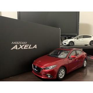 【E.M.C】1:18 1/ 18 原廠 Mazda Mazda3 四門 馬三 魂動紅 禮盒包裝 絕版模型車 臺南市