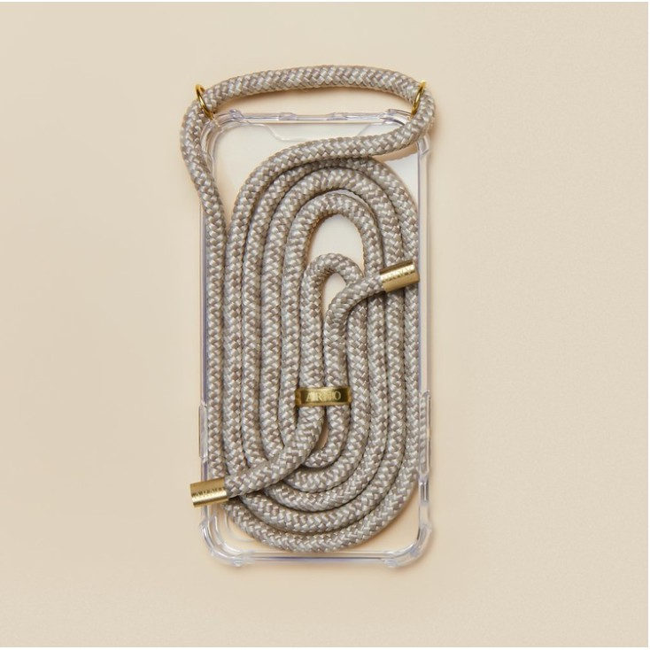 Arno 編繩背帶透明iPhone手機殼_麥片奶油