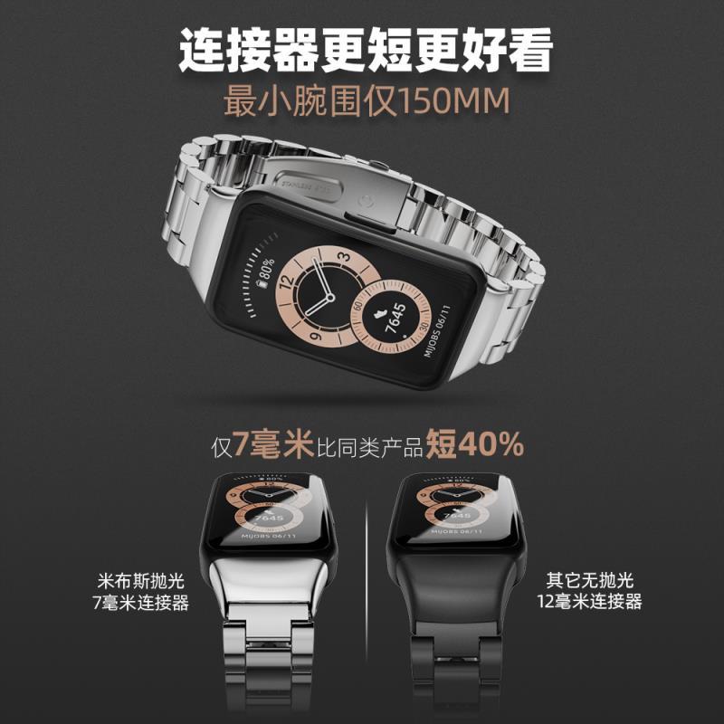 🗼高品質🚀 適用華為手環6表帶/榮耀手環6表帶/榮耀手環6腕帶/華為手環6腕帶nfc版編織尼龍替換表帶金屬配件米蘭磁