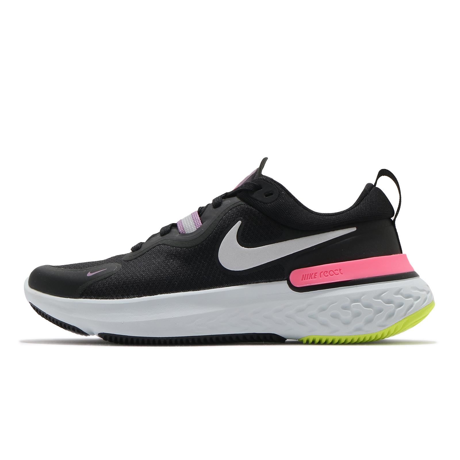 Nike 慢跑鞋 Wmns React Miler 黑 粉紅 女鞋 發泡中底 運動鞋【ACS】 CW1778-012