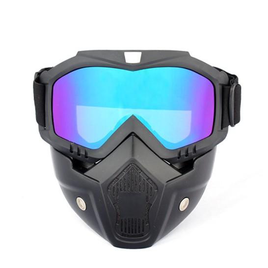 哈雷複古防風面罩 風鏡面罩摩托車護目鏡防護面罩哈雷復古越野摩托頭盔風鏡