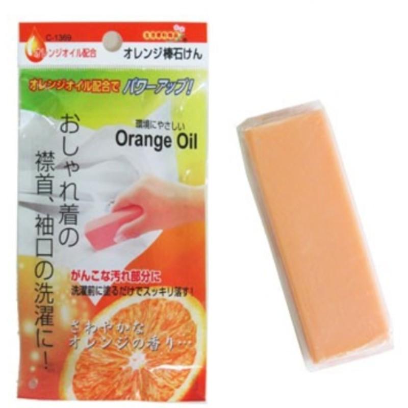 日本製 不動化學 天然橘子油 衣領 袖口 去污皂 Orange Oil 橘油強效 去污棒 100g