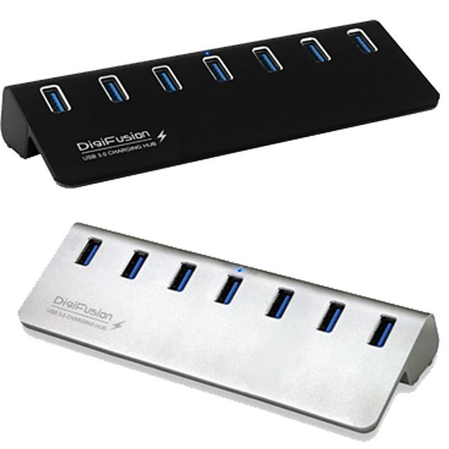 伽利略 USB3.0 7埠 HUB 鋁合金 U3H07F 附原廠3A變壓器