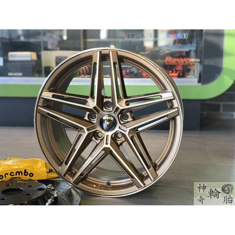 17吋鋁圈 璇壓輕量 8.4公斤 順謚 PSD-1 星狀五芒星款 配適215/45/17 國產輪胎 圈胎組合~兩台限量