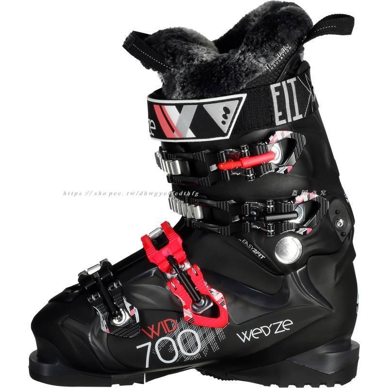 ❤雙12現貨秒殺❤迪卡儂 雙板滑雪鞋女 保暖易穿脫滑雪靴 硬度80Wid 700 WEDZE1