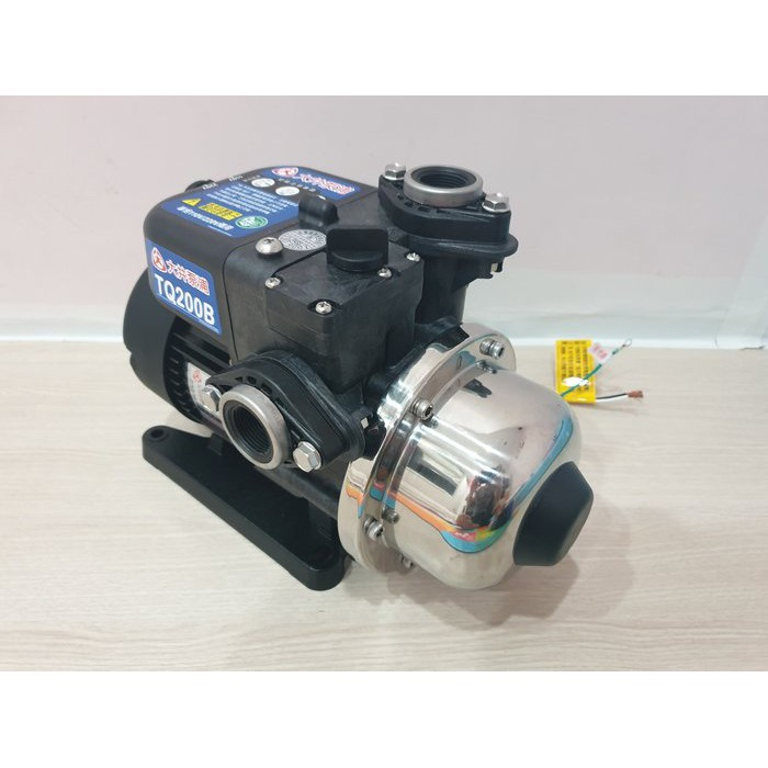 【泵浦五金】大井 TQ200  1/4HP電子穩壓加壓馬達*加壓機*低噪音(二代最新款) TQ200B