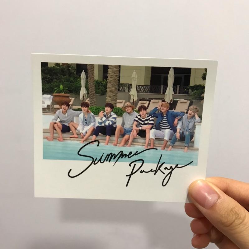 ♥️BTS防彈少年團 2016夏日寫真 團體小卡明信片