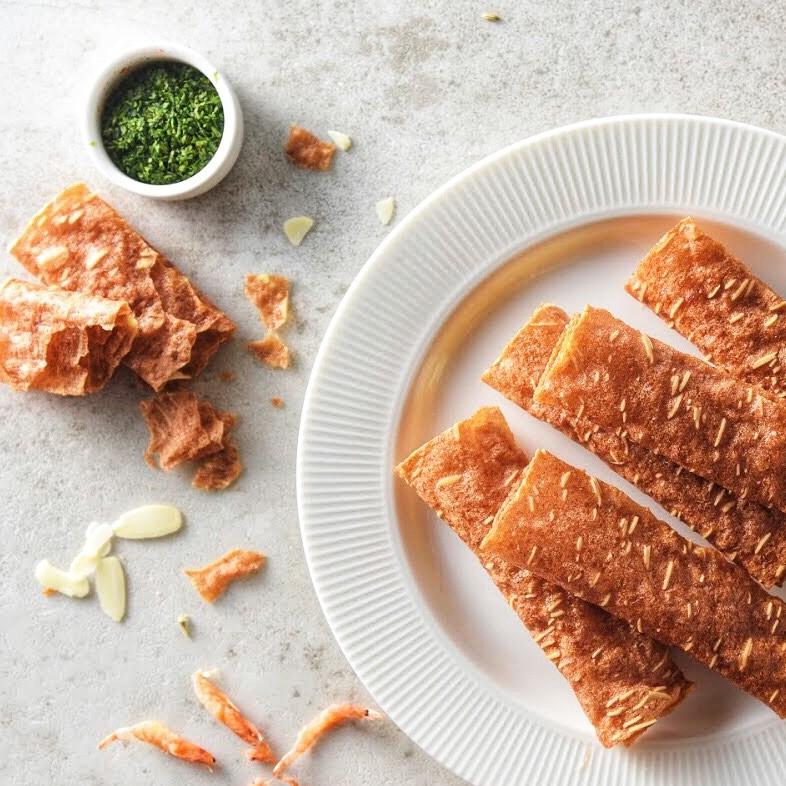 【起家-手作肉乾】 芝麻豬肉脆捲│顛覆傳統 薄脆口感