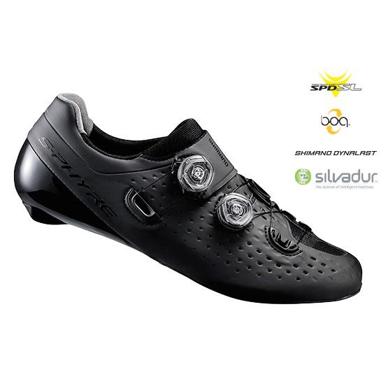 Shimano RC901頂級雙BOA旋鈕碳纖底雙旋鈕頂級卡鞋 黑