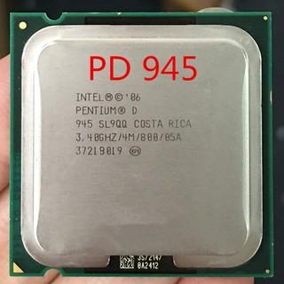 英特爾奔騰D945 PD945插槽LGA 775處理器PD 945 CPU 3.4Ghz /  4M /  800GHz