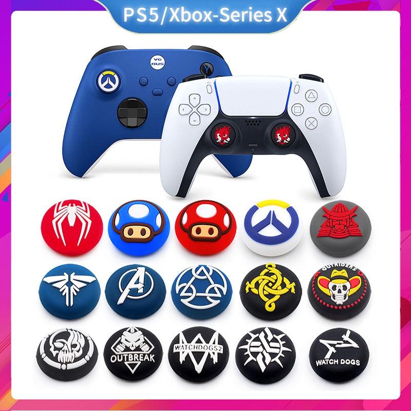 適配PS5手柄搖桿帽PS4 Xbox-Series X主題款硅膠手柄搖桿保護套帽 任天堂主機保護殼 代購