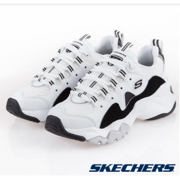 ╭*dodo_sport*╯SKECHERS D'LITES 3.0(12955WBK)復古 老爹鞋
