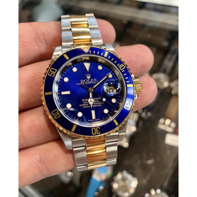 Rolex 16613藍金水鬼18K金老錶二手美品