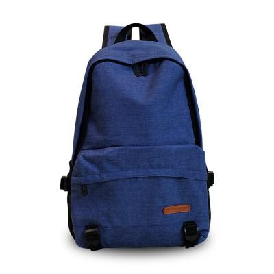 素色後背包 簡約素色大容量後背包男女正韓潮學院風休閒背包中學生書包旅游包