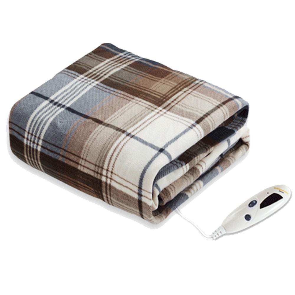 【BIDDEFORD】智慧型時尚格紋蓋式電熱毯  OTG-T