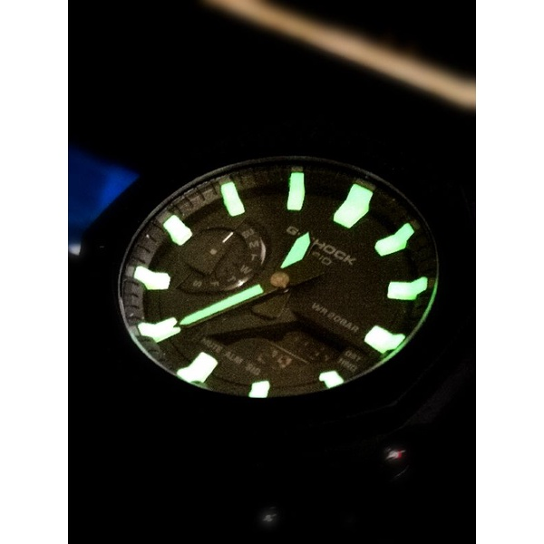 CASIO GA-2100 夜光 螢光 刻度 改裝 農家橡樹