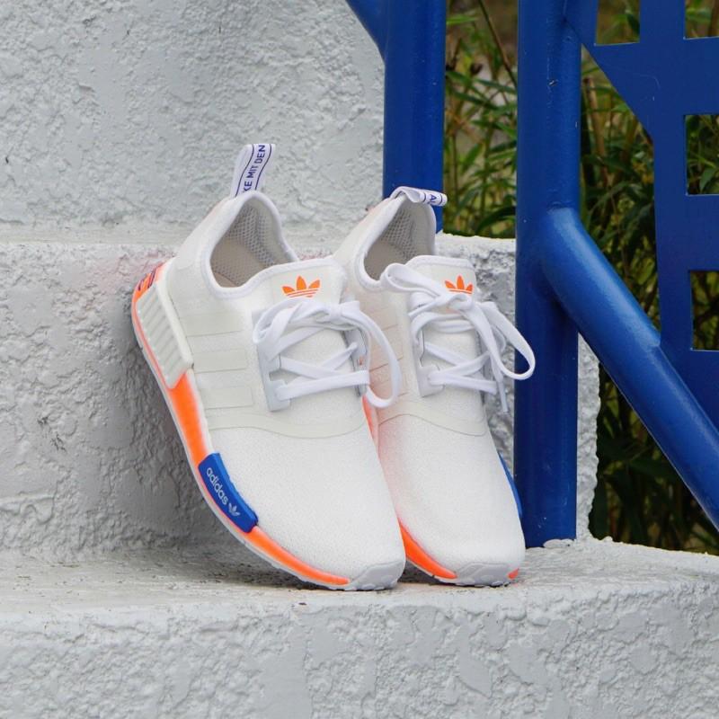 全新正版 Adidas Nmd R1 白橘藍 塗鴉 FV7852現貨