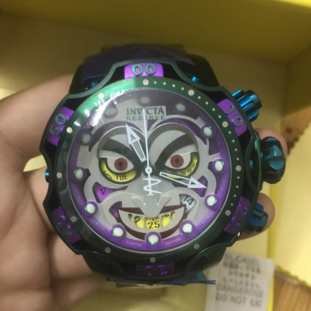 高品質 實物拍攝 INVICTA 英威塔 30124 DC聯名Joker 小丑經典鋼帶款
