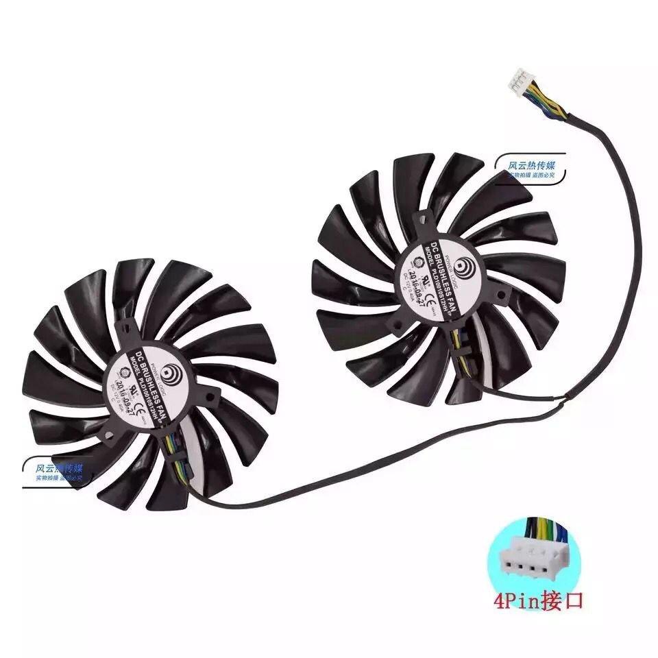 包郵微星GTX1080Ti/1070/1060 RX470/480/570 GAMING顯卡風扇全新 wD9g