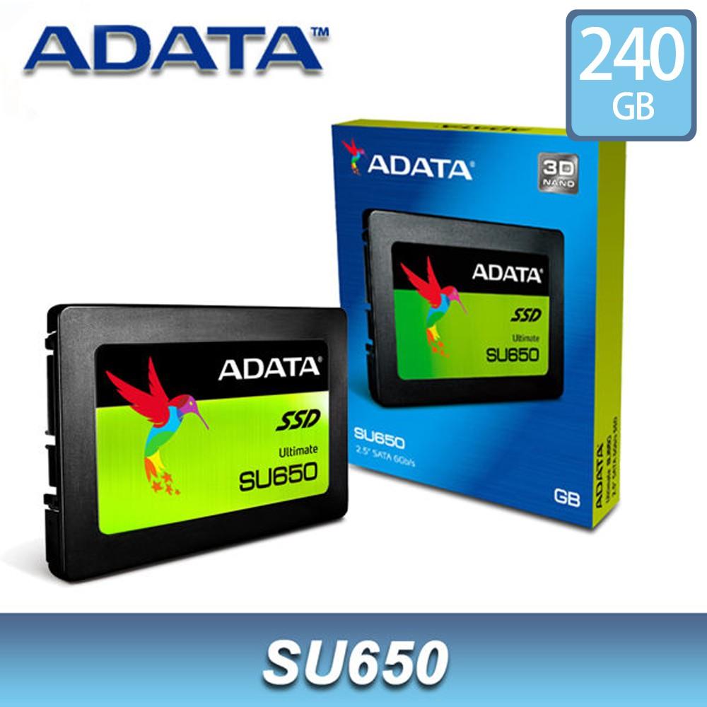 威剛 SU650 240GB 2.5吋 SSD 固態硬碟 ADATA 3D TLC 3年保 240G【每家比】