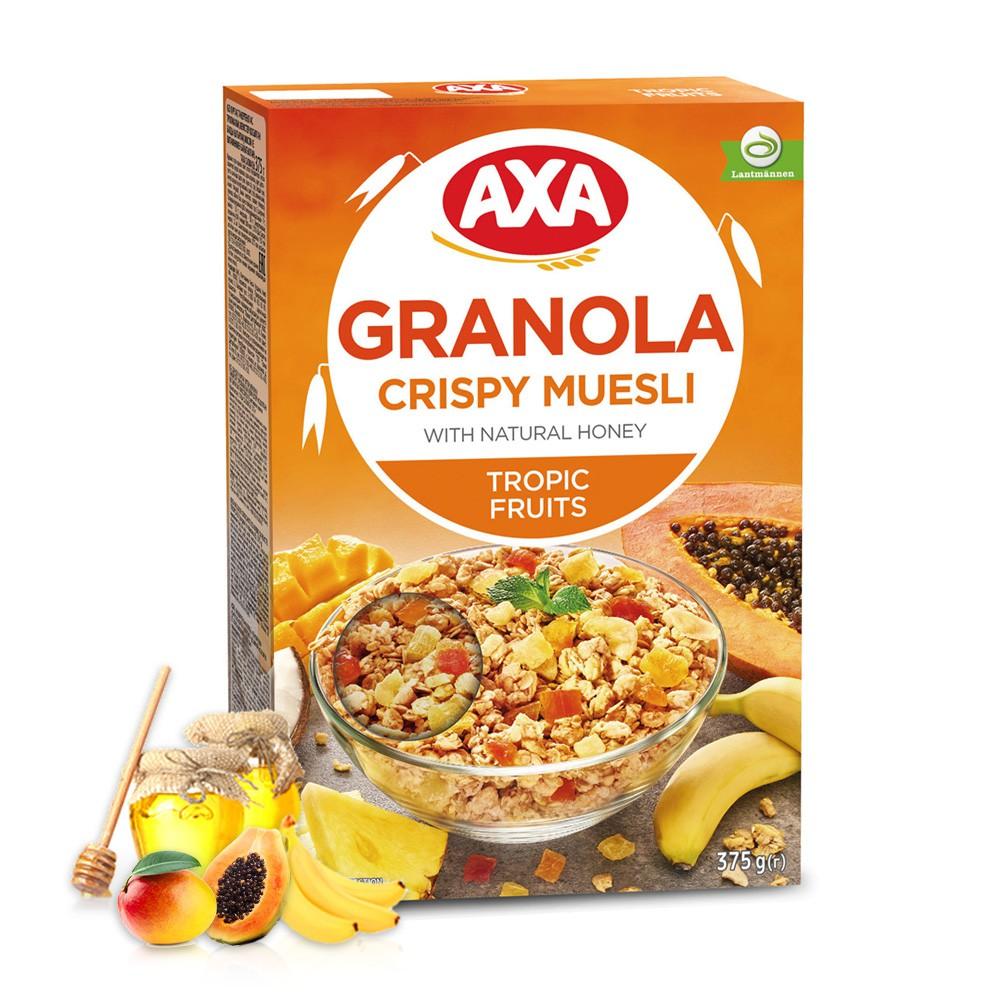 官方直營【瑞典AXA】熱帶水果穀物麥片(375g)